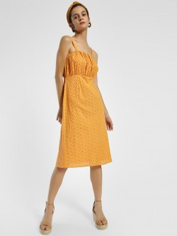 Rena Love Broderie Strappy Midi Dress