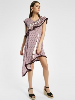Rena Love Paisley Print Asymmetric Dress