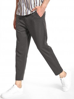 Spring Break Pinstripe Drop Crotch Trousers