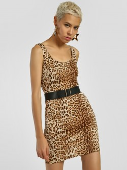 KOOVS Leopard Print Bodycon Dress