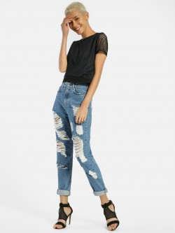 Privy League Extreme Ripped Boyfriend Jeans