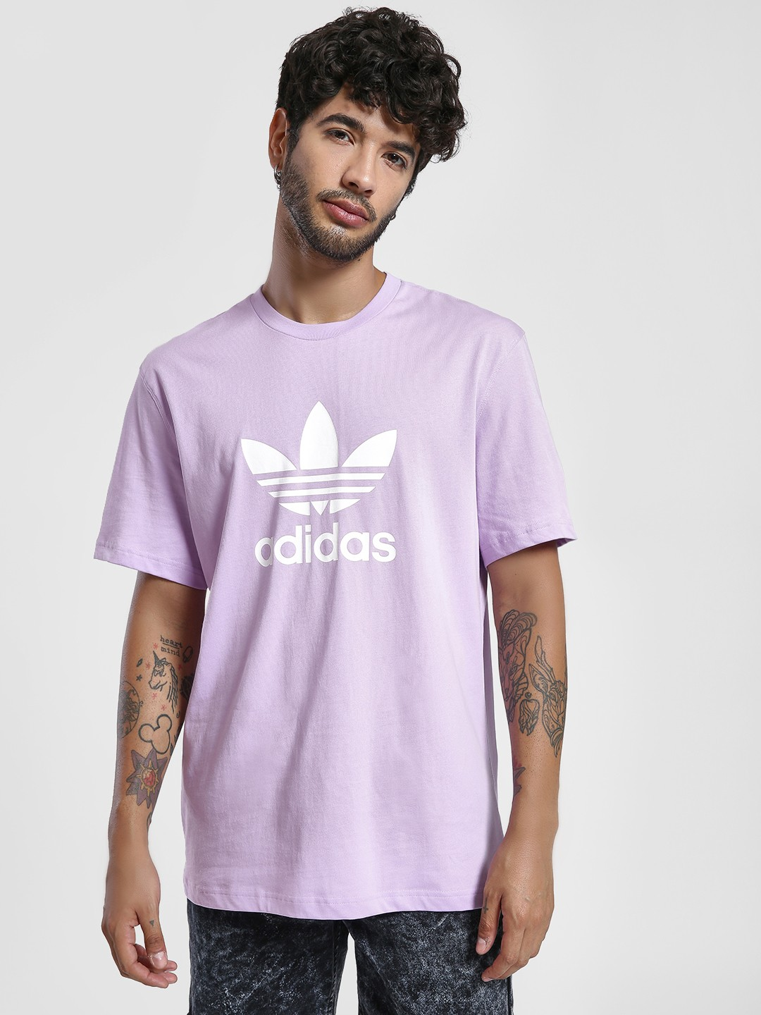 Adidas Originals Purple Trefoil T-Shirt 1