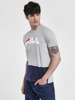 Fila Colour Block Logo Print T-Shirt
