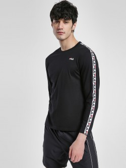 Fila Logo Tape Long Sleeve T-Shirt