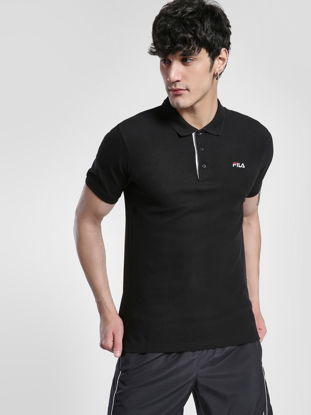 Fila Black Logo Detail Polo Shirt 1