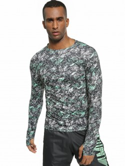 K ACTIVE KOOVS Abstract Print Long Sleeve T-Shirt