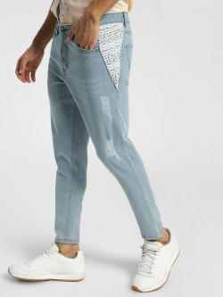 K Denim KOOVS Crochet Panel Girlfriend Jeans