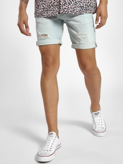 Alcott Light Wash Distressed Slim Shorts
