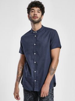Alcott Basic Band Collar Casual Shirt