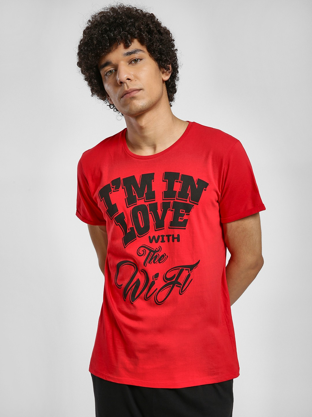 Alcott Red Slogan Print T-Shirt 1