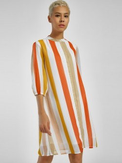 Femella Colour Block Stripe Shirt Dress