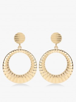 VOODOO VIXEN Gold Textured Concentric Earrings