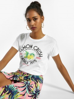 KOOVS Lemon Slogan Placement Print T-Shirt
