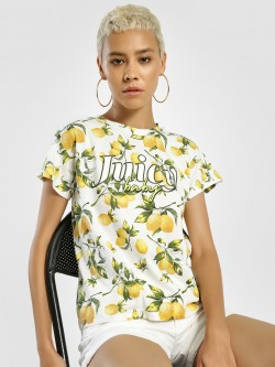 KOOVS Slogan Lemon Print T-Shirt