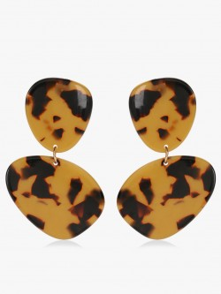 KOOVS Leopard Print Resin Earrings