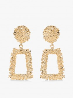 KOOVS Gold Crusted Geometric Earrings