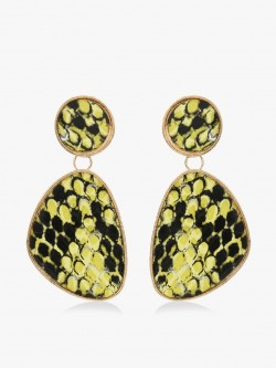 KOOVS Snake Print Asymmetric Earrings