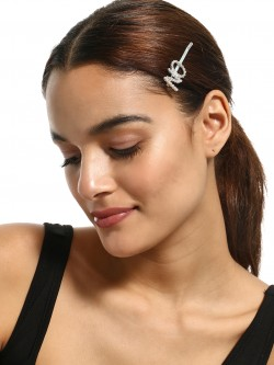 KOOVS Text Diamante Embellished Hair Clip