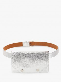 KOOVS Textured Metallic Bum Bag