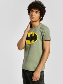 Free Authority Batman Logo Print T-Shirt
