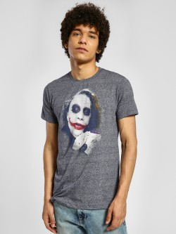 Free Authority Joker Placement Print T-Shirt