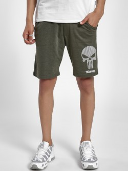 Free Authority Punisher Rubberised Logo Print Shorts