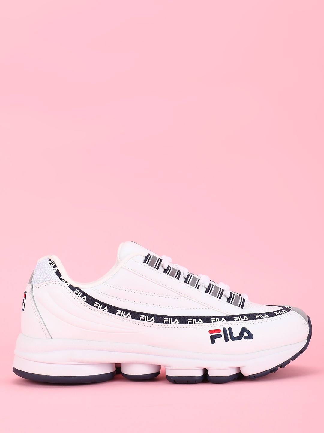 Fila White Dragster 98 X Disruptor II Trainers 1