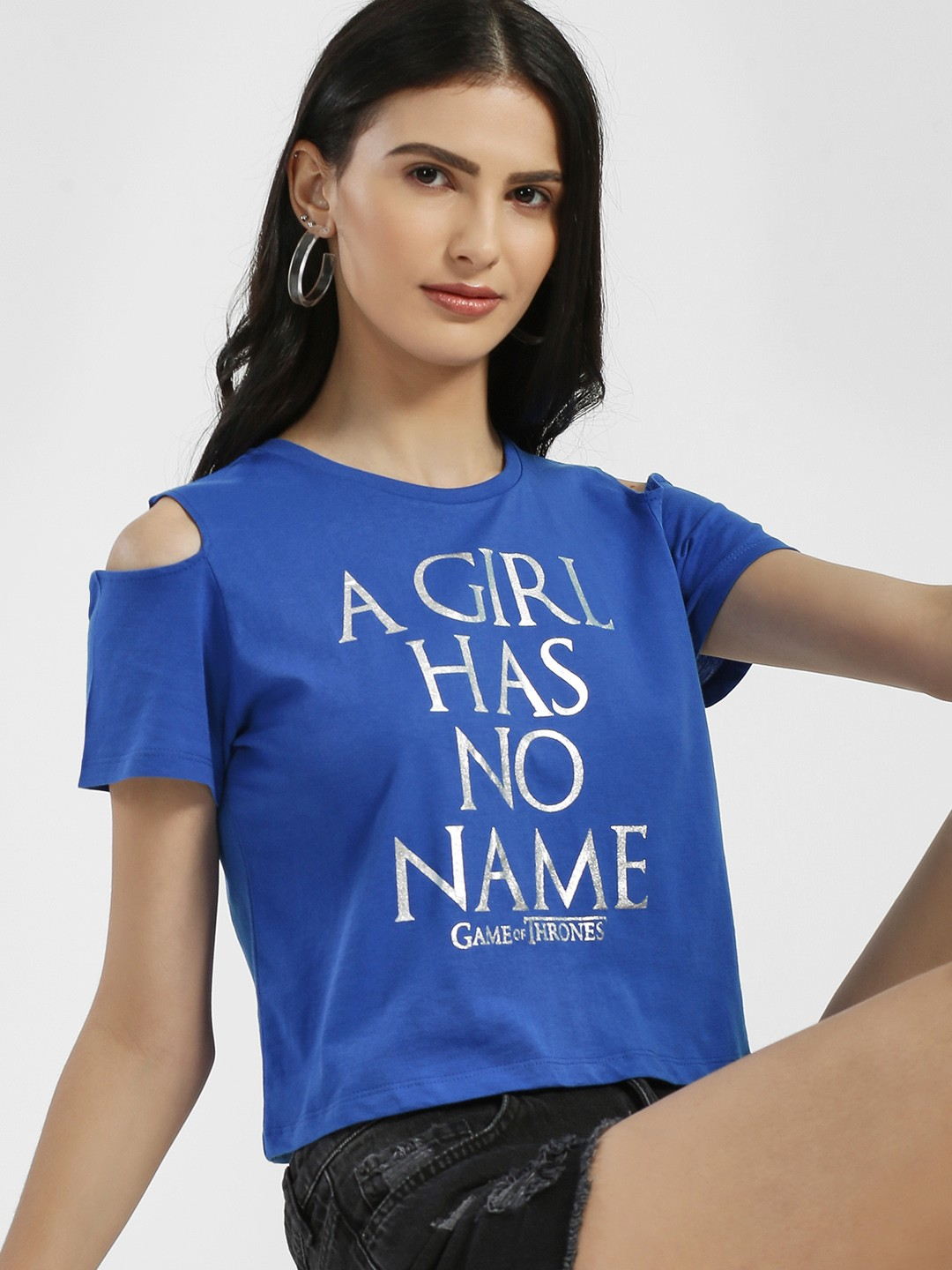 Free Authority Blue Game Of Thrones Crop T-Shirt 1