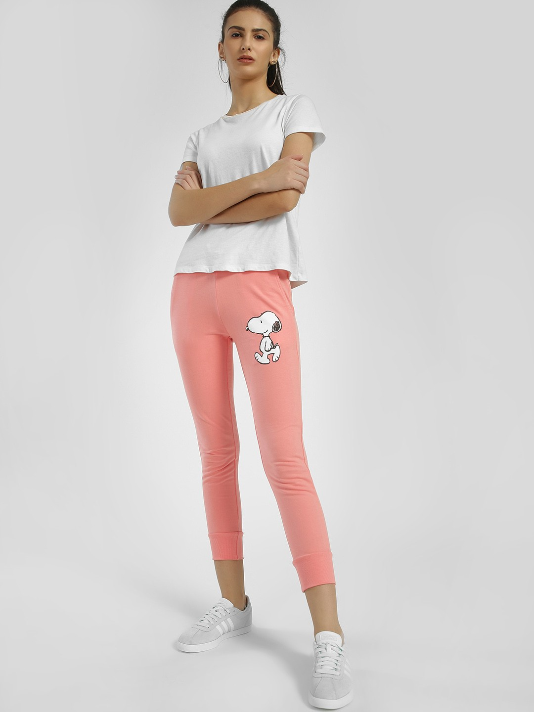 Free Authority Pink Snoopy Print Skinny Joggers 1