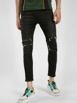 IMPACKT Mid Wash Knee Patch Skinny Jeans