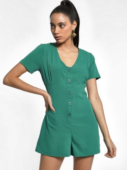KOOVS Basic Corset Back Playsuit