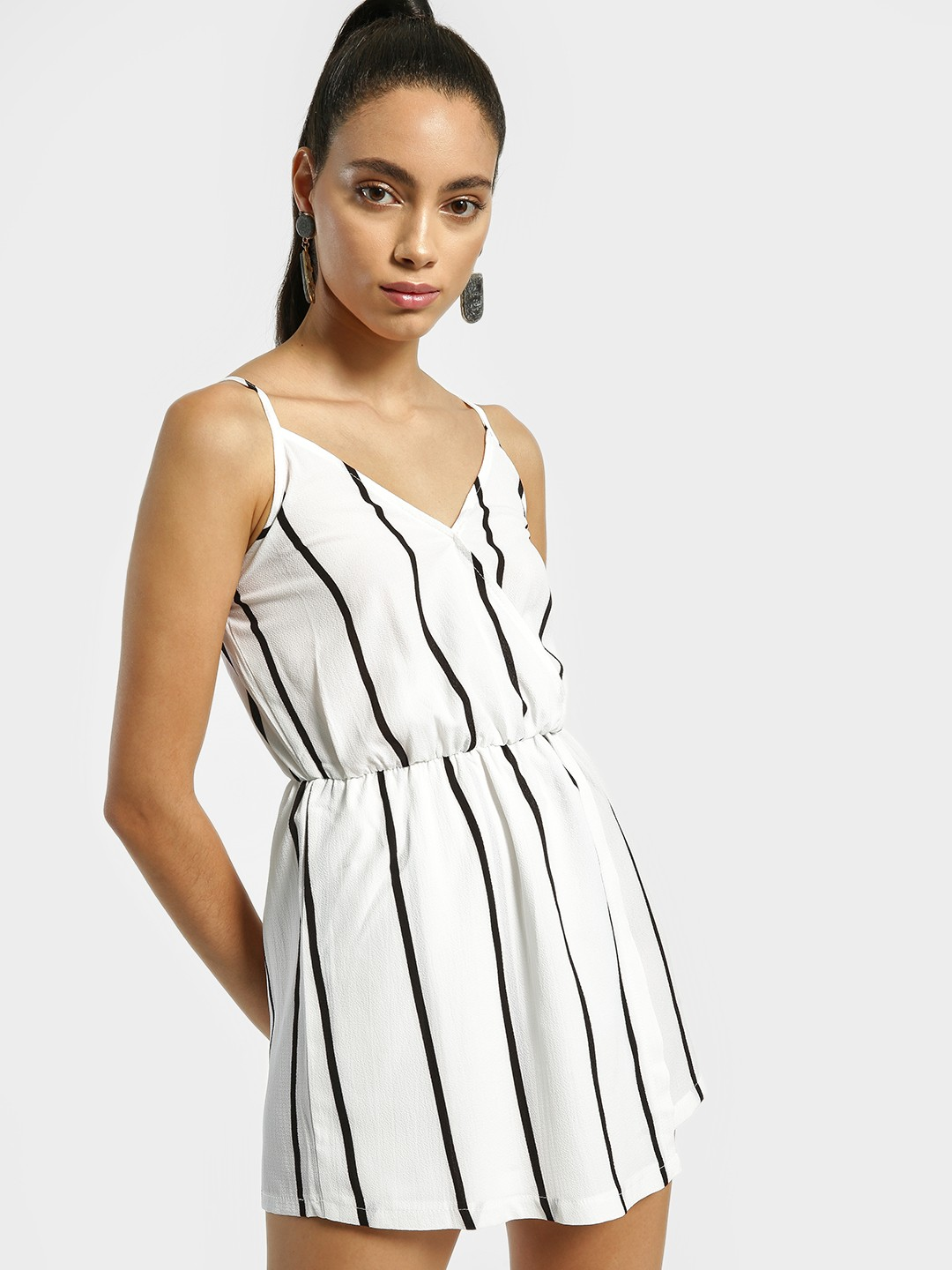 EmmaCloth Multi Vertical Stripe Strappy Playsuit 1