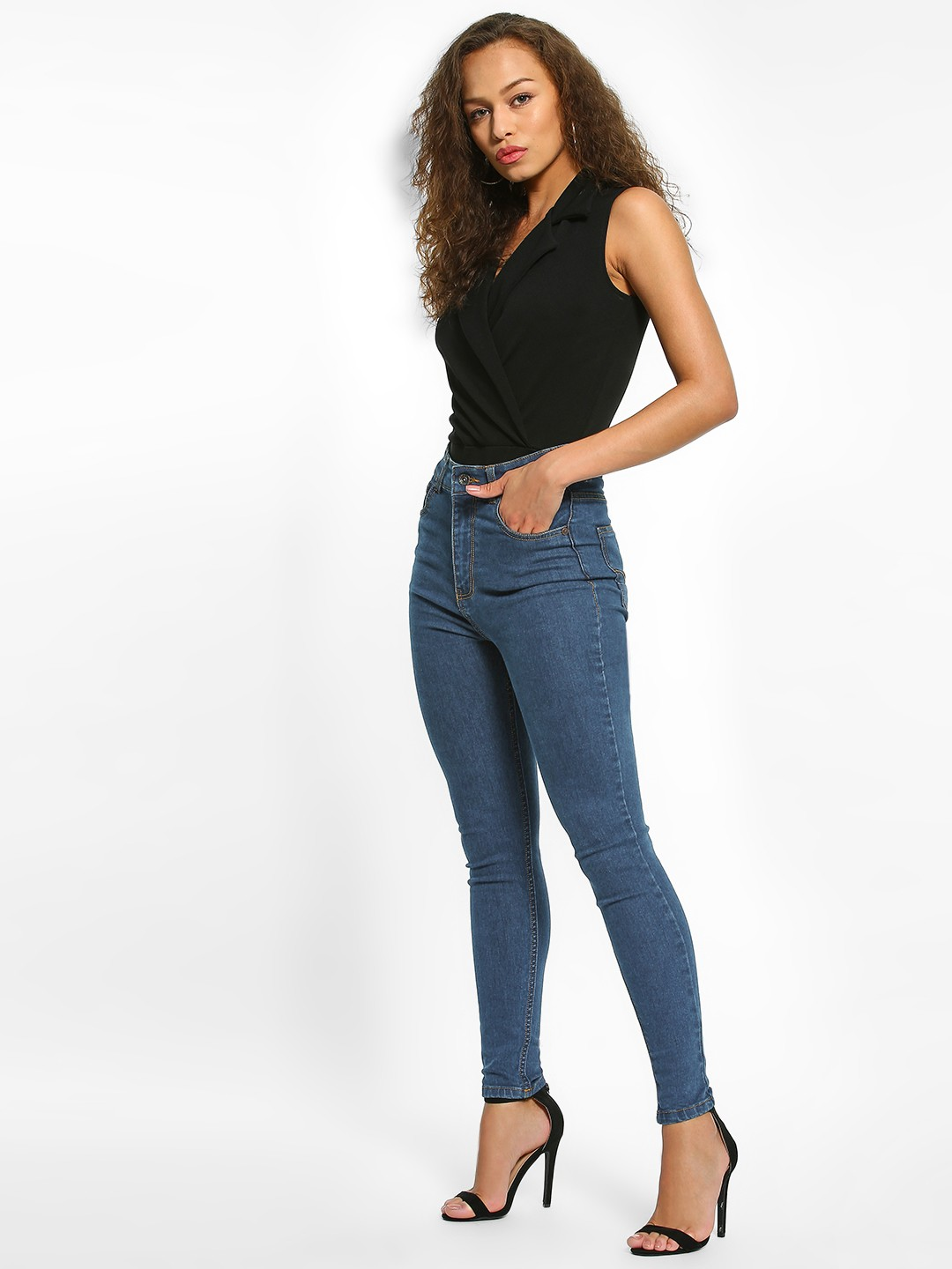 K Denim DK BLUE KOOVS Dark Wash High-Waist Skinny Jeans 1