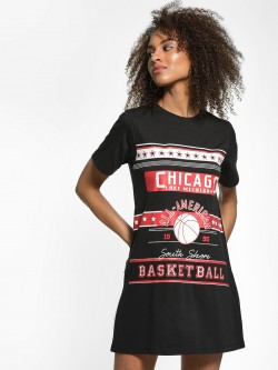 KOOVS Chicago Text Print T-Shirt Dress