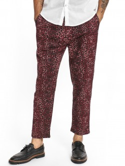 Spring Break Leopard Print Drop Crotch Trousers