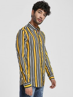 Green Hill Multi Stripe Casual Shirt