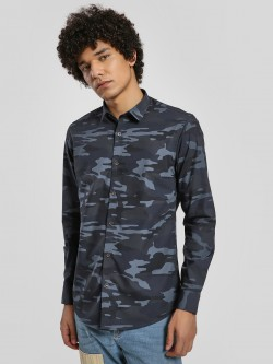 Green Hill Camo Print Long Sleeve Shirt