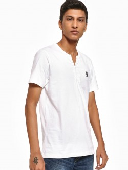 Giordano Basic Henley Neck T-Shirt