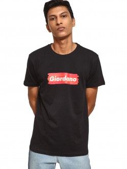 Giordano Logo Placement Print T-Shirt