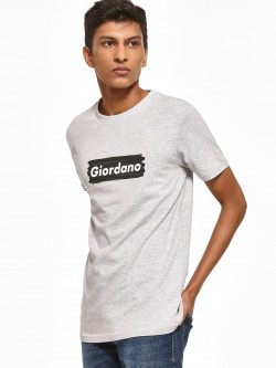 Giordano Placement Print Melange T-Shirt