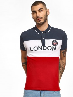 Giordano Union Jack Colour Block Polo Shirt