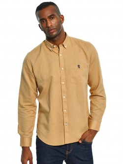 Giordano Linen Blend Long Sleeve Shirt