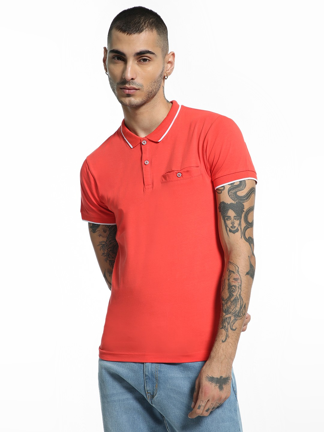 Kenneth Cole Red Basic Polo T-Shirt 1