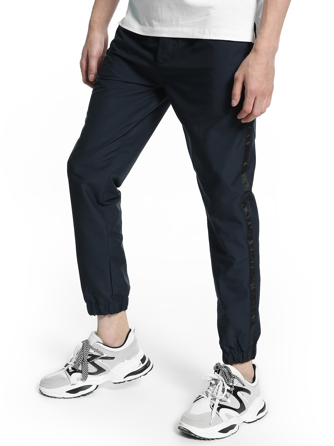 Kenneth Cole Blue Side Tape Track Pants 1