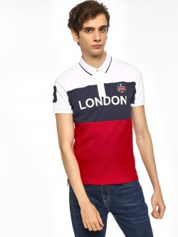 Giordano Colour Block Badge Polo Shirt