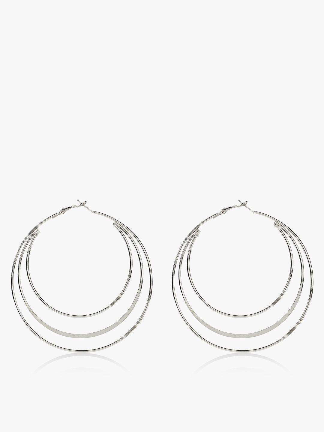 Zero Kaata Silver Multi-Hoop Earrings 1