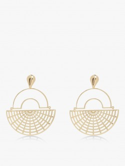 Zero Kaata Half Hoop Geometric Earrings