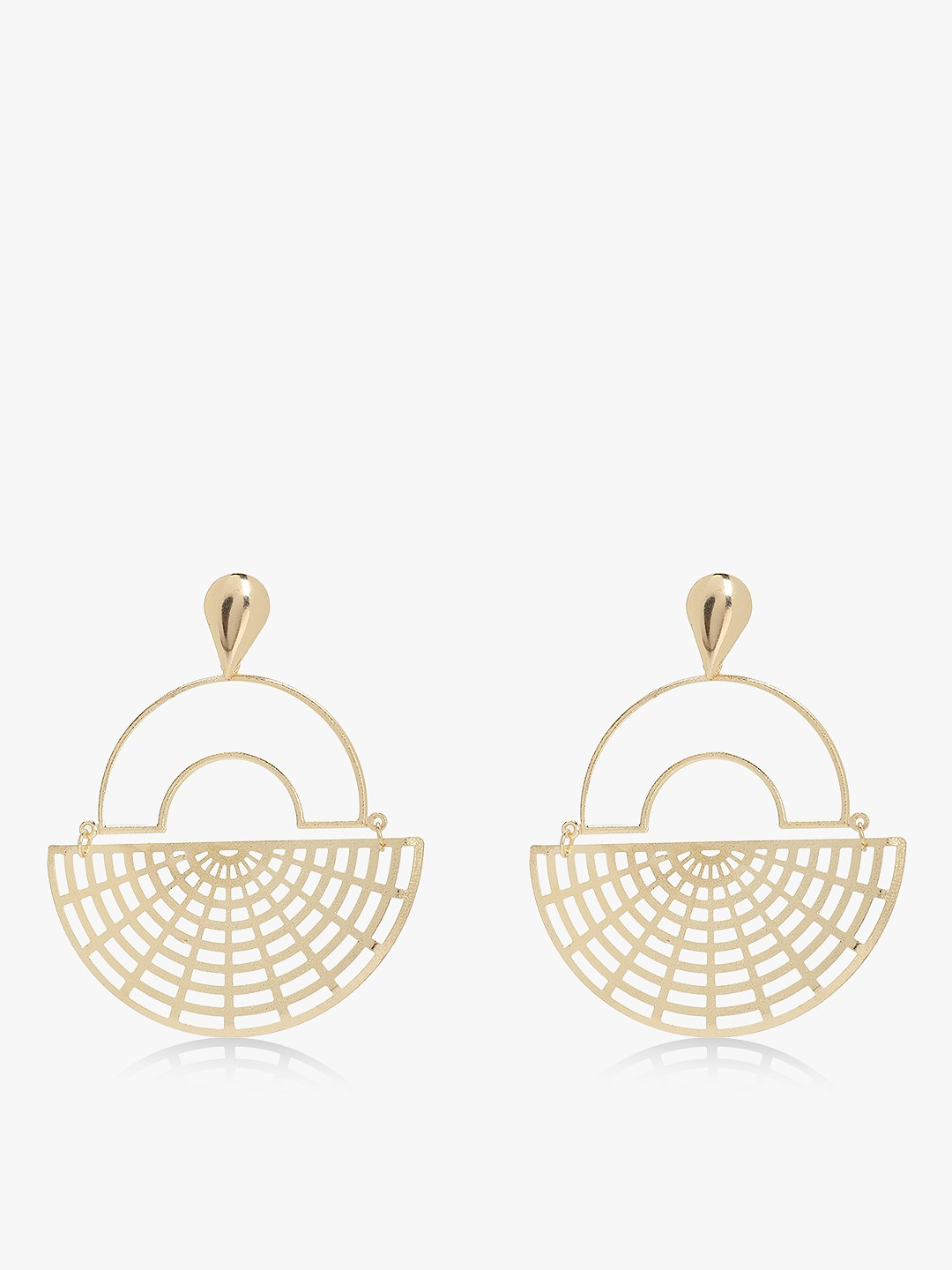 Zero Kaata Gold Half Hoop Geometric Earrings 1