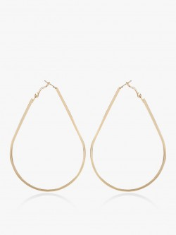 Zero Kaata Large Drop Shape Hoops