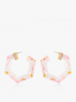 Style Fiesta Resin Hexagon Hoops